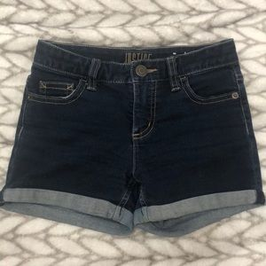 Girls dark blue  jean shorts